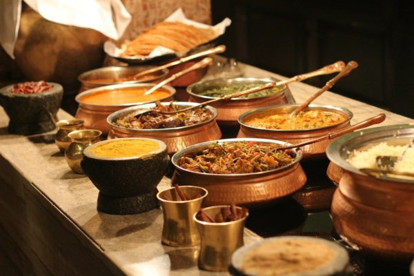 buffet, indian, food